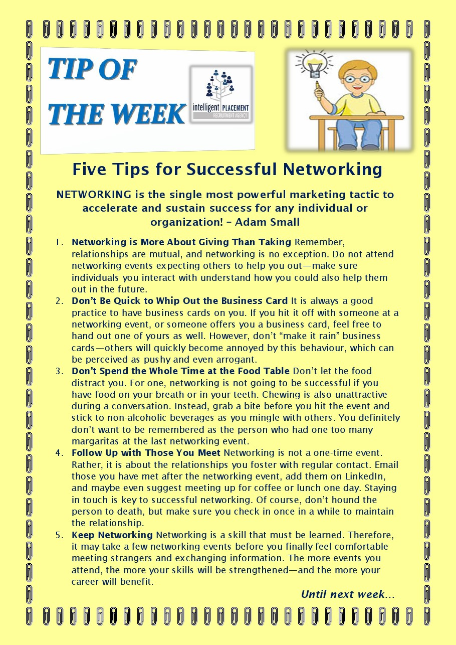 2016 05 175Tipsonsucessfulnetworking